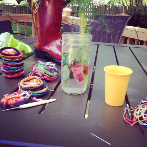 A little sun-time crafting.